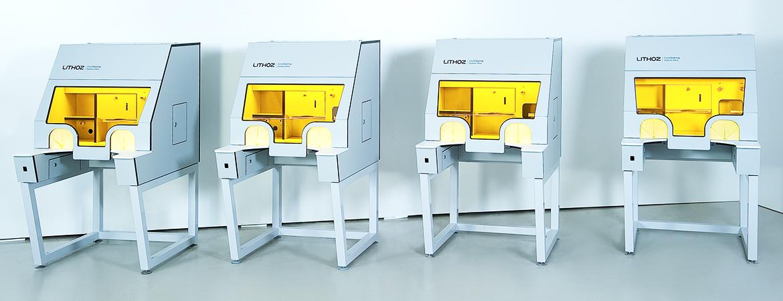 Prototypen der 2. Generation für Lithoz